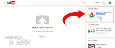 Youtube - Import Google Photos