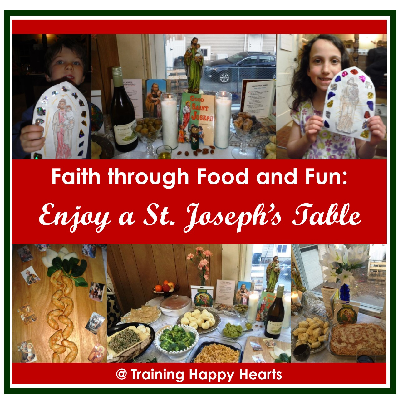 Enjoy a St. Joseph Table with Friends - Training Happy Hearts