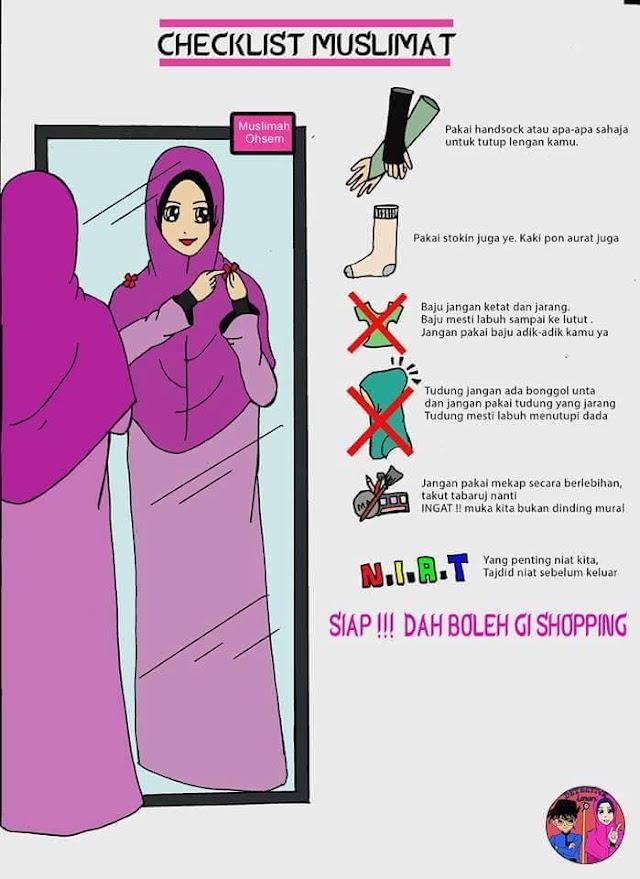 6 'Checklist' Sebelum Keluar Shopping Buat Muslimah!