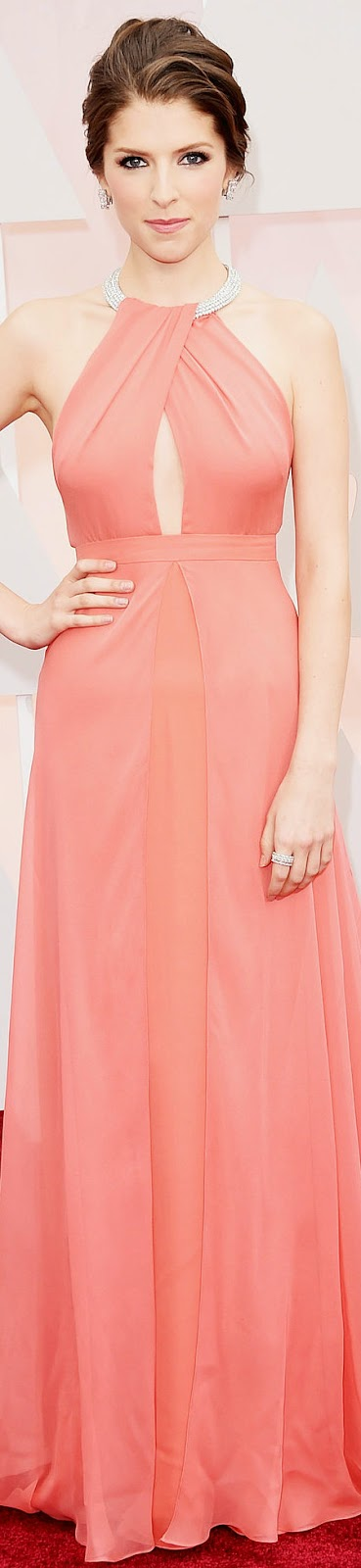 ANNA KENDRICKS 2015 OSCAR RED CARPET