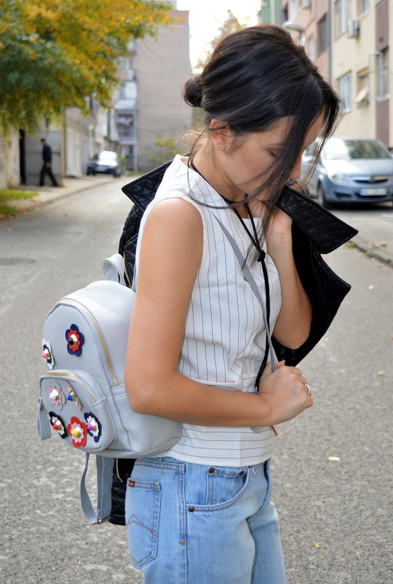 fendi backpack with flowers