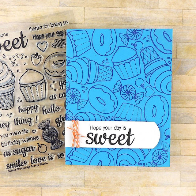 Sunny Studio Stamps: Sweet Shoppe Cupcake, Ice Cream & Donuts Card by Creations Galore