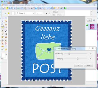"""Screenshot PhoXo zum Thema """"Bilder einfärben"""""""