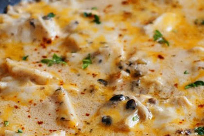 One Pan Sour Cream Chicken Enchilada Skillet Delicious Recipe