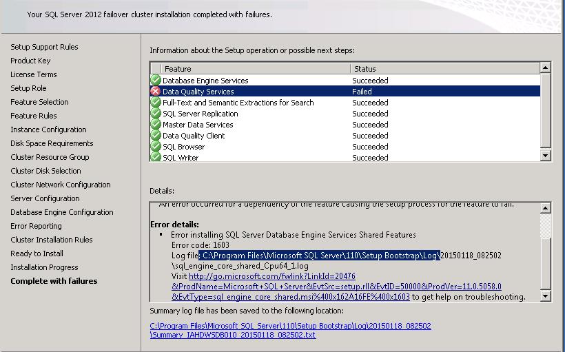 SQL DBA Articles: ERROR:The sql server database services