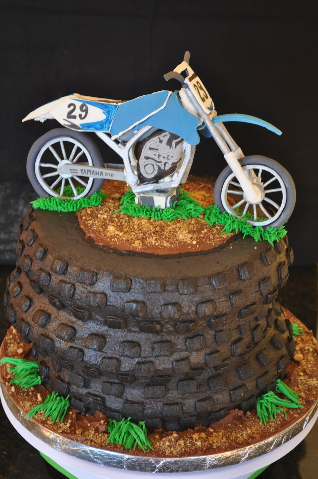 Motocross Bike Birthday Cake