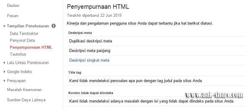Penyempurnaan HTML
