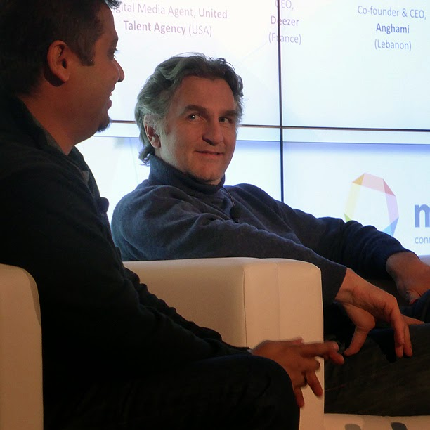 Midem 2014 : Axel Dauchez (Deezer) / photo S. Mazars