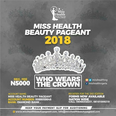 Registration Is Now On For Miss Health Beauty Pageant 2018