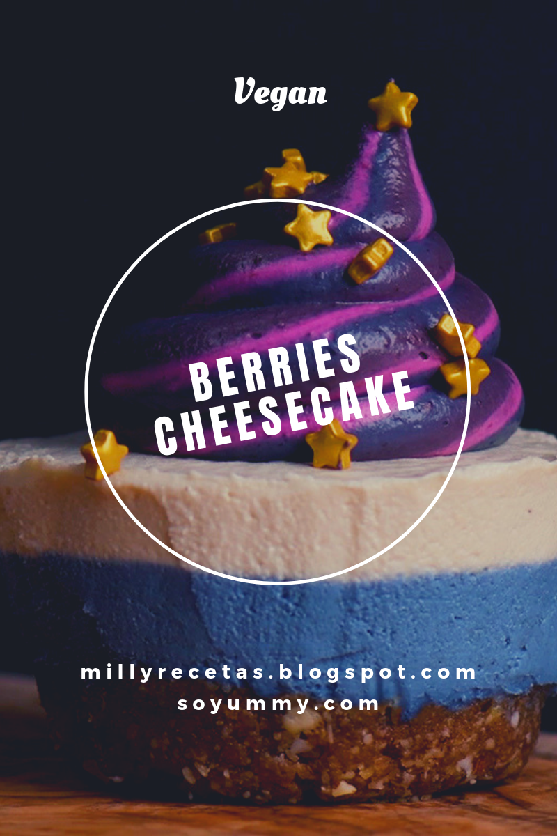 Cheesecake de Berries Vegano