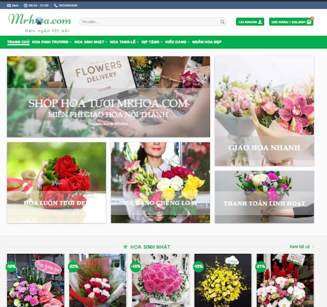 website ban hoa tuoi hang dau viet nam mrhoa.com
