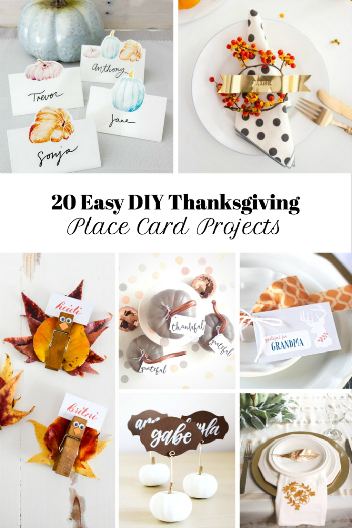 20 Thanksgiving Place Card Ideas and Free Printables