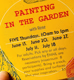 EVENT: JUNE 13, 20, 27, JULY 11, 18, PAINTING IN THE GARDEN