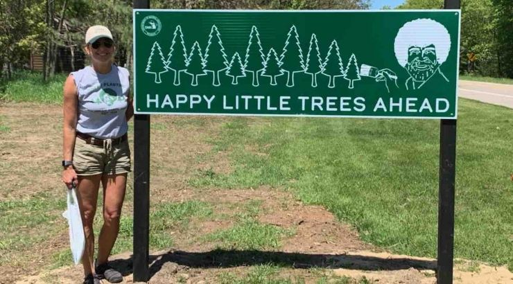Michigan Inmates Plant 1,000 Trees To Honor Bob Ross