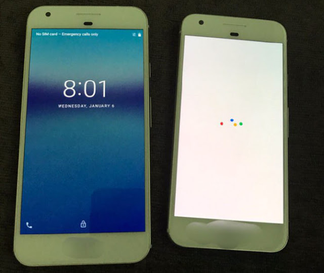 Wujud smartphone Google Pixel dan Pixel XL beredar dalam varian putih