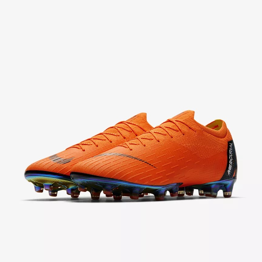 46445c2a72ac The AG-Pro version of the next-generation Nike Mercurial Superfly & Vapor  360 2018 soccer cleats comes with conical, relatively short studs in the  front ...
