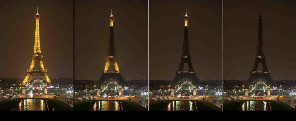 Eiffel Tower goes dark in memory of Paris terror victims