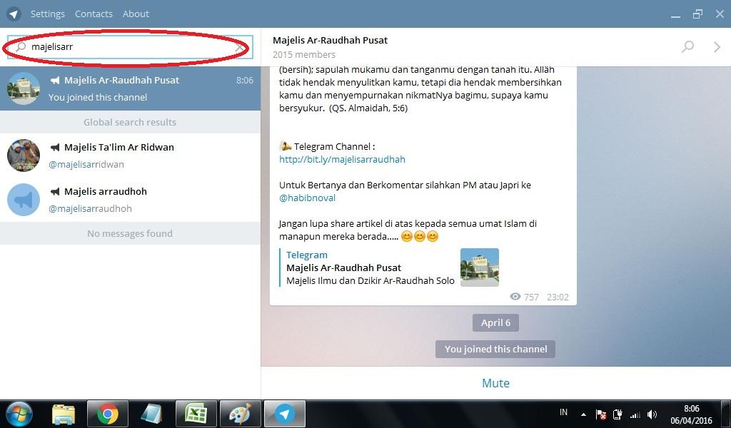 Telegram di PC Maupun Laptop | Download MP3
