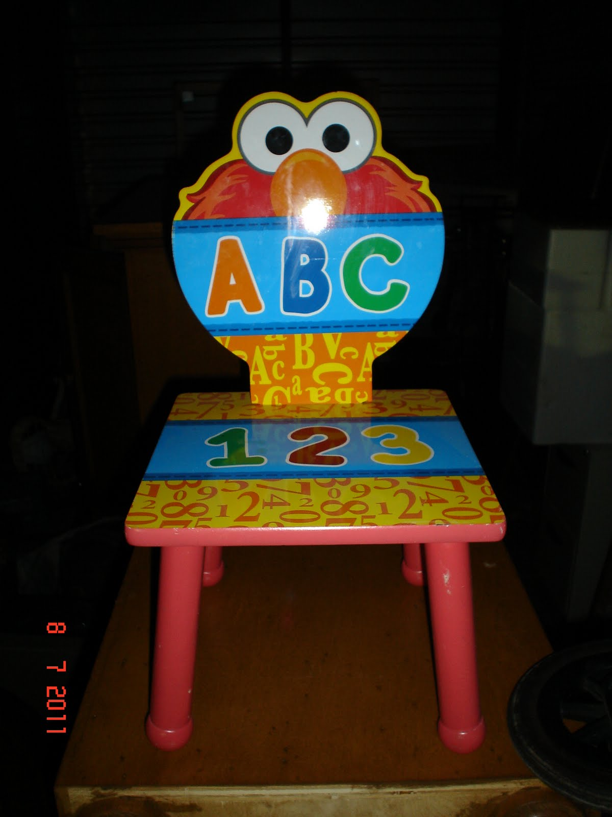 elmo table and chairs mamas papas vibrating chair the storage princess sold for toddlers