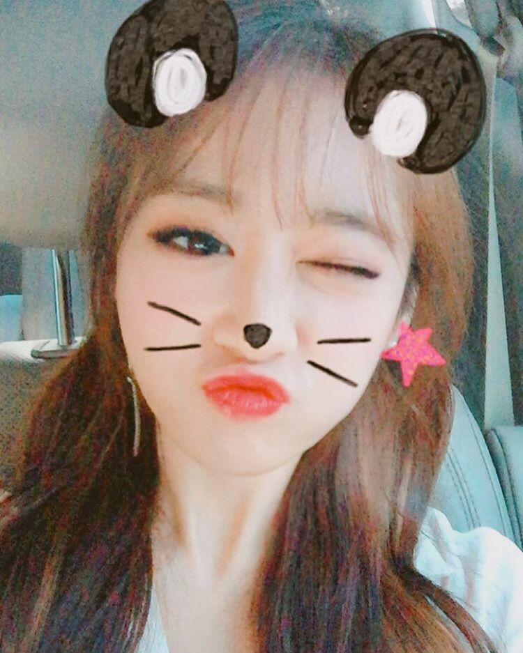 T-ara JiYeon is a cute panda in her SelCa | T-ara World