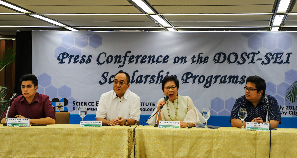 DOST, Department of Science and Technology, Fortunato de la Peña, Josette Biyo, Ruben James Rosal, John Kenneth Malilay
