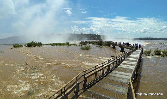 Cataratas do Iguaçu - lado argentino - trilha para a Garganta do Diabo