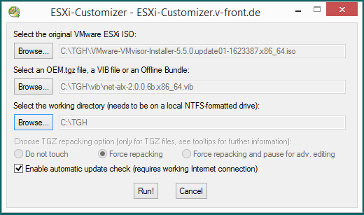 VMWare ESXi 5 5 - Adding RealTek and Atheros Network Card