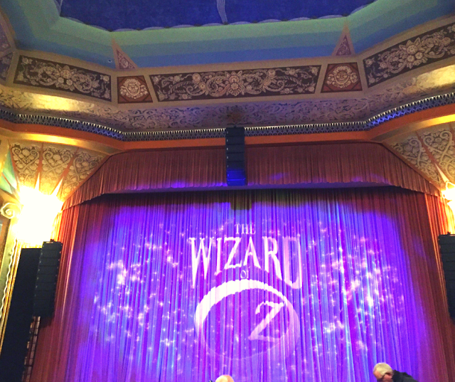 Waiting for the curtains to go up for The Wizard of Oz at the Paramount Theatre in Aurora!