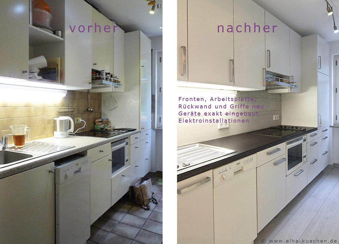 Wir renovieren Ihre Küche : Küchenrenovierung - vorher - nachher