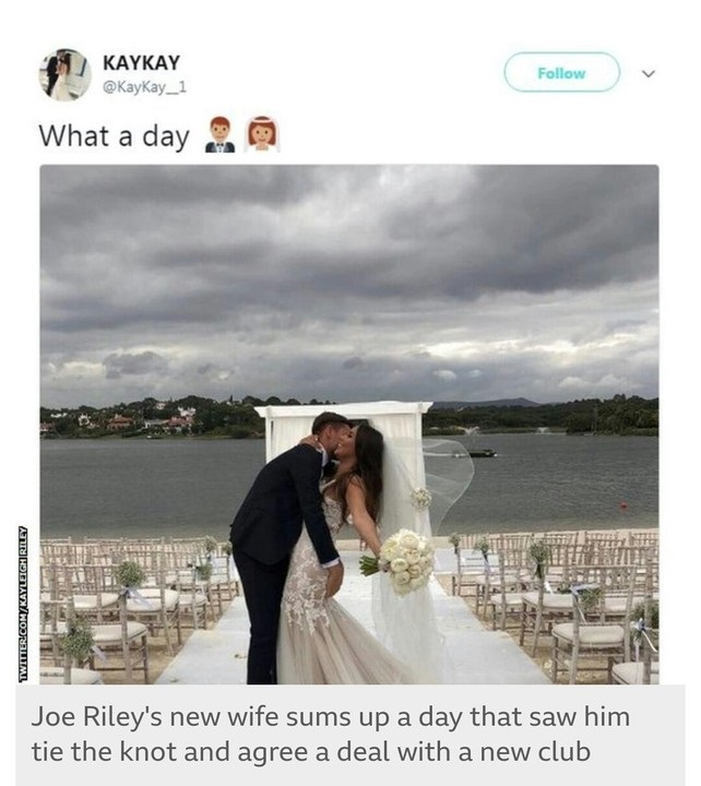 Joe Riley Weds And Signs For New Club On The Same Day