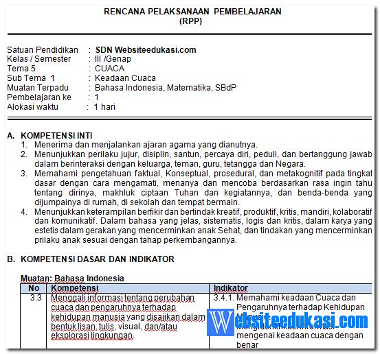 Rpp Bahasa Indonesia Kelas 3 Sd Semester 2 Guru Ilmu Sosial