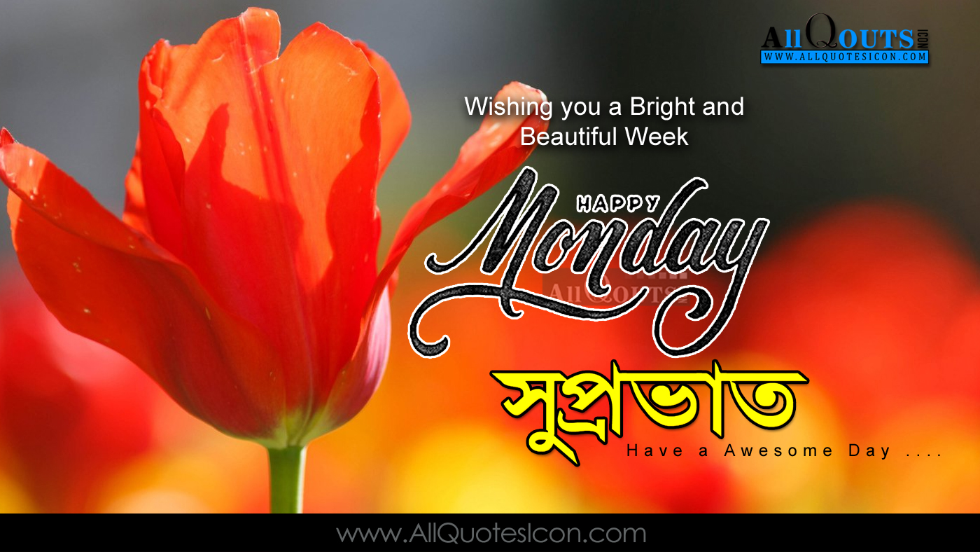 Elegant good morning monday greetings images bengali good morning quotes wshes for whatsapp life kristyandbryce Images