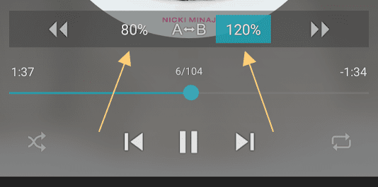 How to speed up or slow down music playback in jetaudio hd music player ccuart Choice Image