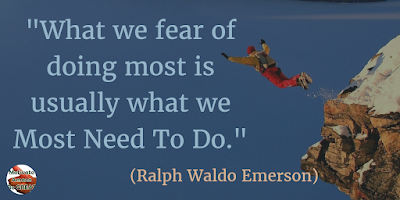 "Motivational Quotes For Work: ""What we fear of doing most is usually what we most need to do."" - Ralph Waldo Emerson"
