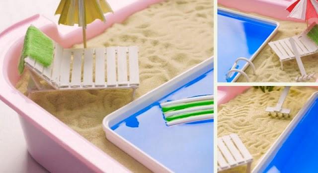 DIY Παιχνιδοκατασκευή Mini Πισίνα