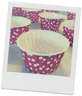 Red polka dot baking cases