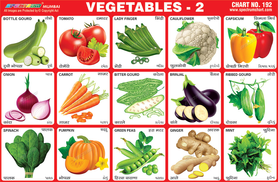 Vegetable Contains Spectrum educational charts chart 192 vegetables 2 vegetables 2 chart workwithnaturefo
