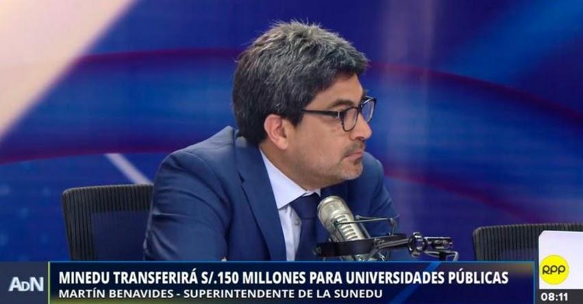No hay ningún indicador que nos diga que tener más universidades necesariamente es mejor (Martín Benavides Abanto) SUNEDU - www.sunedu.gob.pe