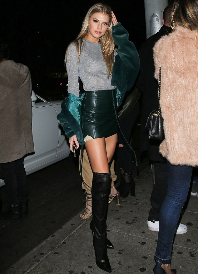 Lovely Ladies In Leather Charlotte Mckinney In A Leather -3834