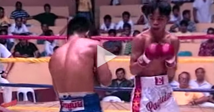 "Watch Manny Pacquiao's ""first fight"" as a Professional Boxer"