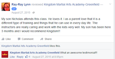 Martial Arts Greenfield Childrens Review 2