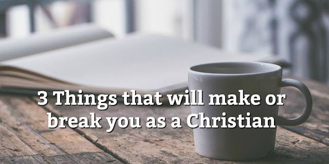 These 3 things will either transform you or conform you, make your Christians life rich and meaningful or shallow and empty. #Christianliving #BibleLoveNotes #Bible