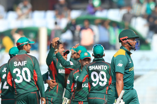 Host Bangladesh stun defending champion South Africa in Under-19 Cricket World Cup opener