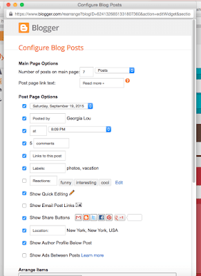 Cara setting postingan blog