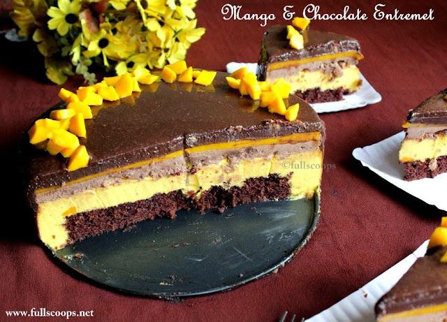 Mango & Chocolate Entremet