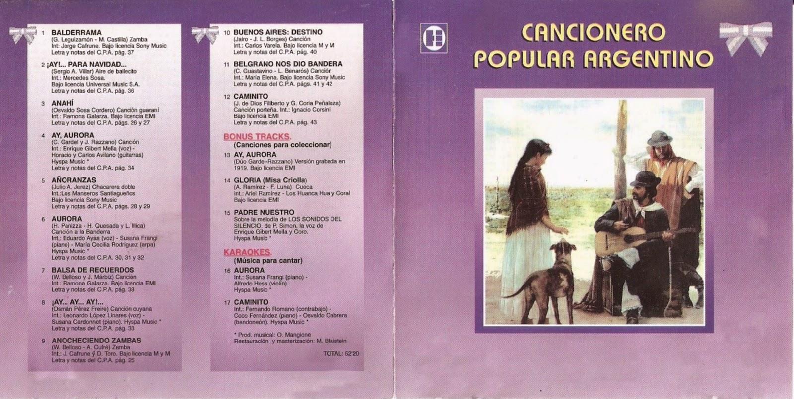 cancionero popular argentino