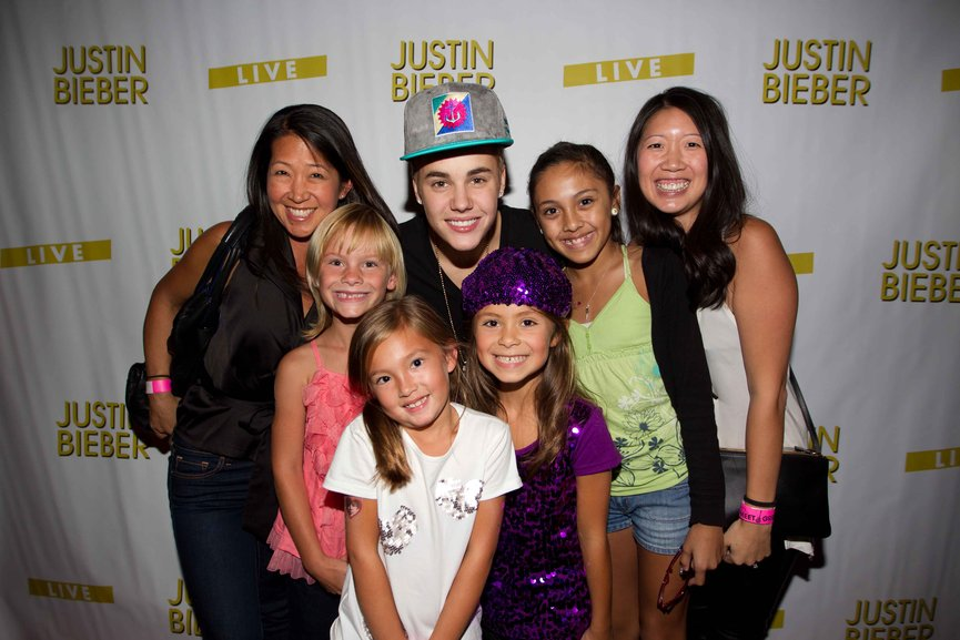 win meet and greet justin bieber los angeles