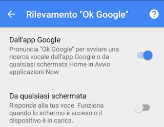 ok google in italiano