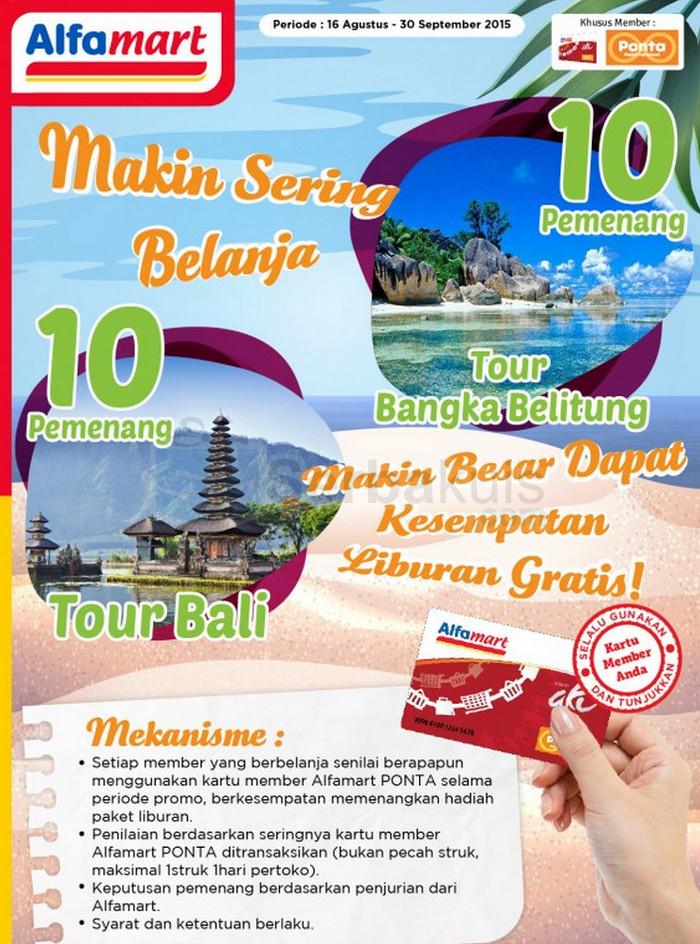 Promo Alfamart PONTA Berhadiah 20 Paket Liburan