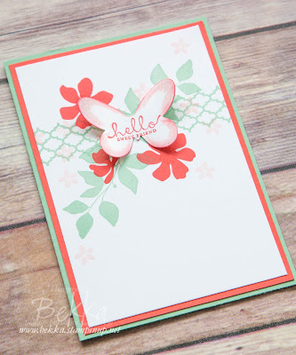 Hello Sweet Friend Card made using supplies from Stampin' Up! UK.  Get the details here.